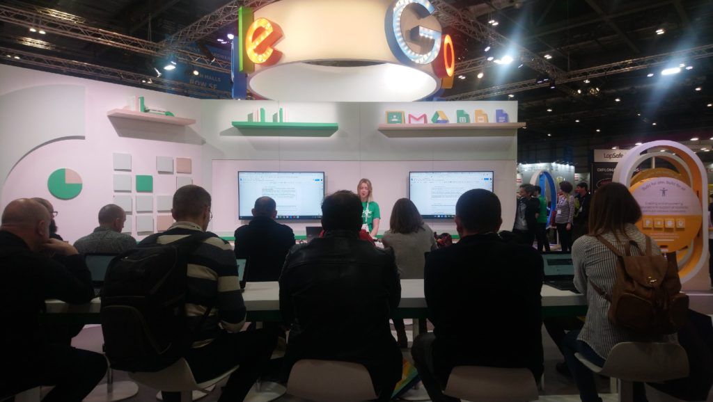 Google stand at BETT 2020 and demo of new assignment tools
