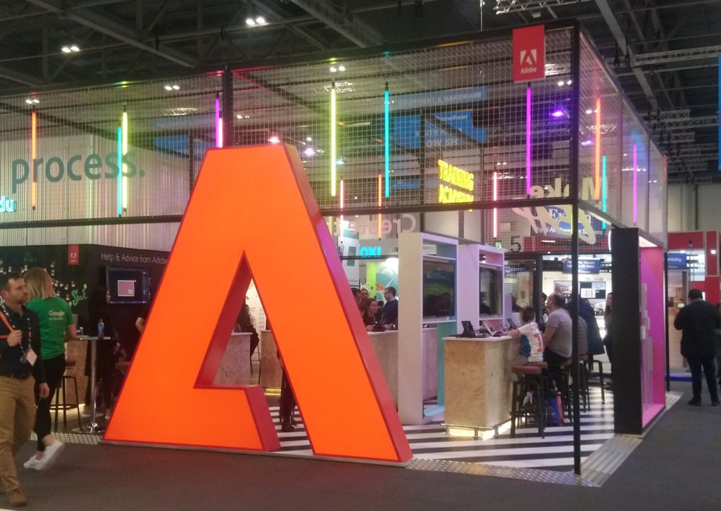 Adobe stand at BETT 2020